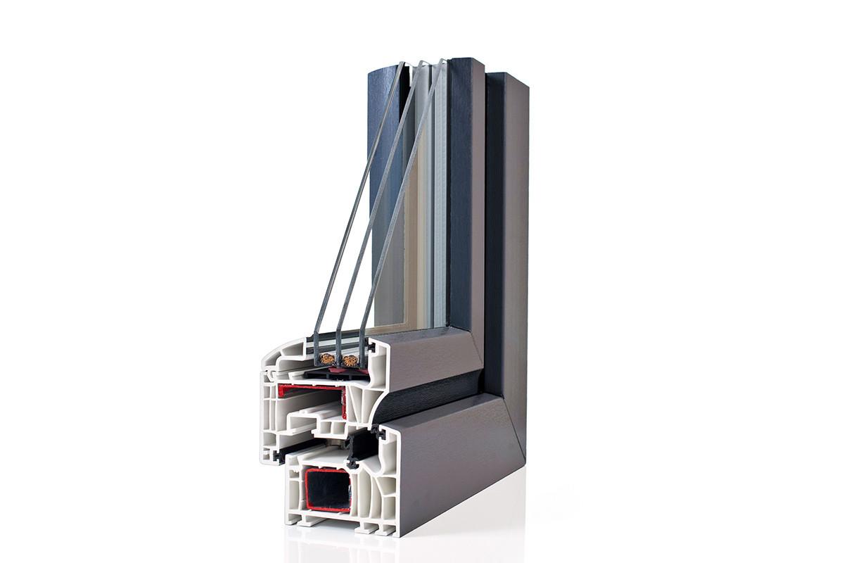 Fotografia produktowa okno Schüco, przekrój
