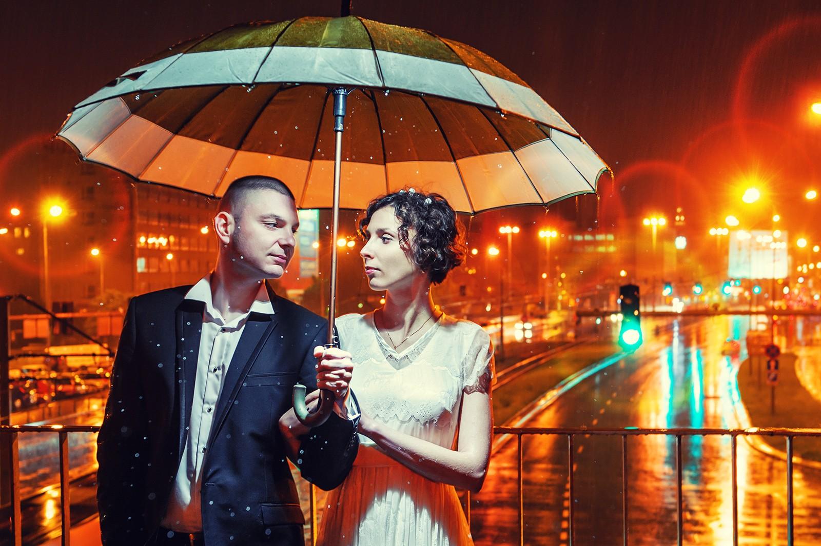 Zdjęcia Ślubne w deszczu - Wrocław